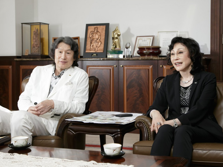 Husband and wife team Youichi and Keiko Erikawa, of Koei fame
