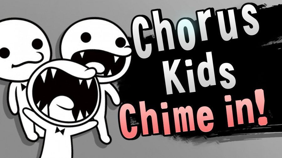 A fan-made mock-up of The Chorus Kids in Super Smash Bros.