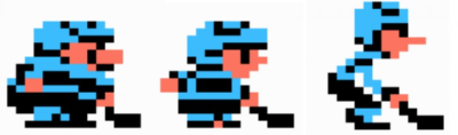 The three types of players from Ice Hockey for the NES. Image credit: Gaming Rebellion