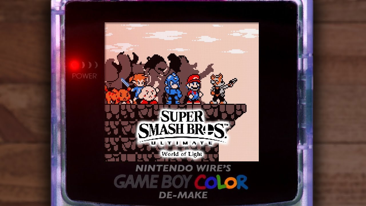Here's How Smash Ultimate's World Of Light Trailer Might Have Looked On Game Boy Color