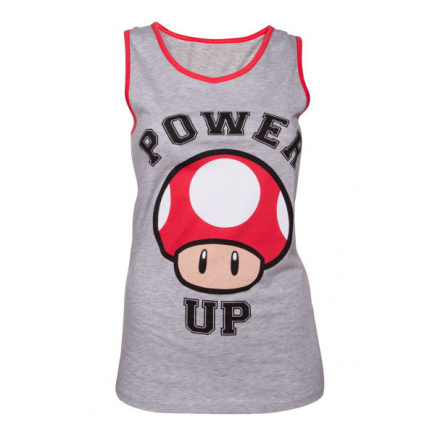 Power Up Tank Top Girls - Grey/Red