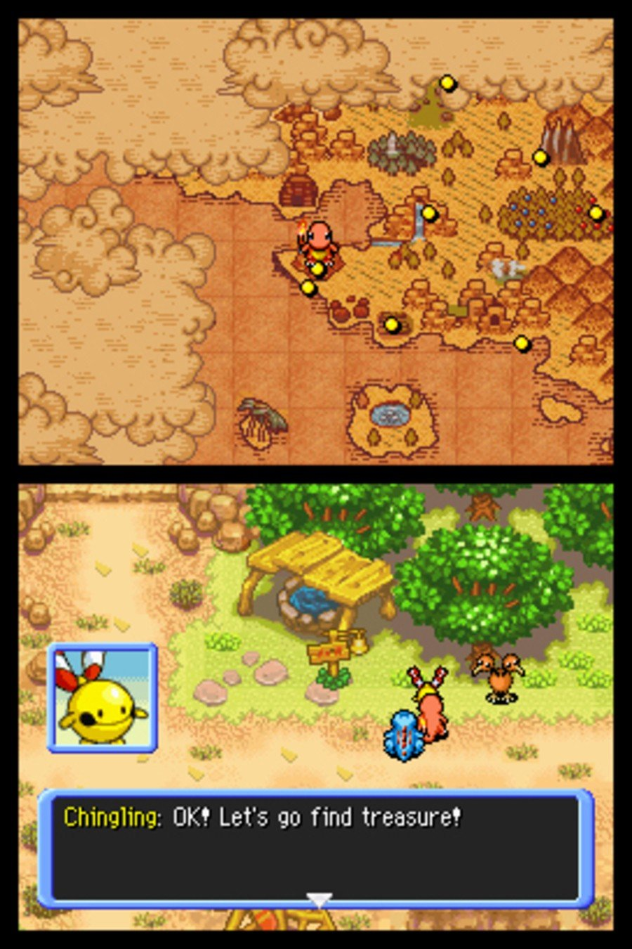 Pokémon Mystery Dungeon: Explorers of Time / Darkness Screenshot