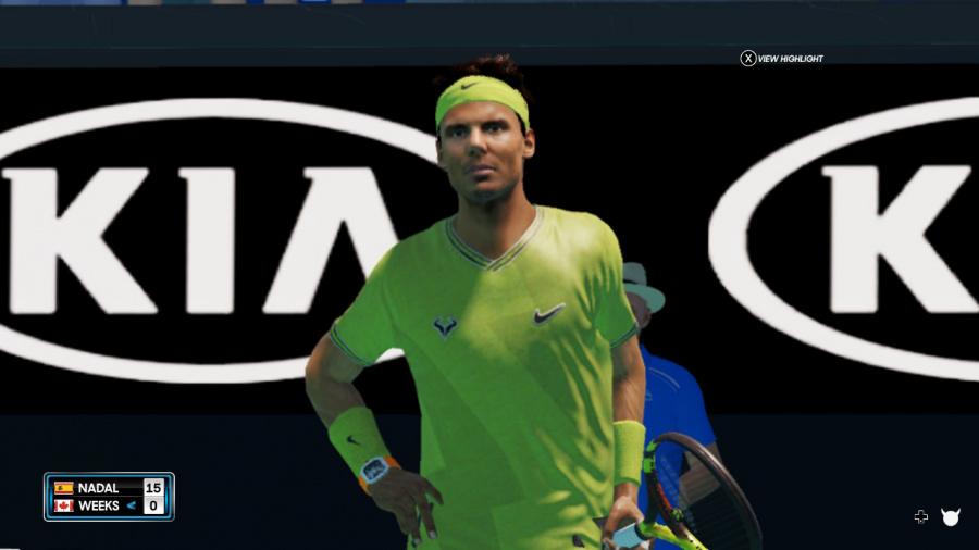 AO Tennis 2 Review - Captura de pantalla 1 de 7