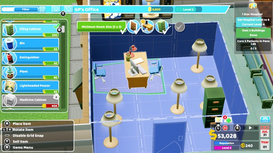 Two Point Hospital Review - Screenshot 2 of 5