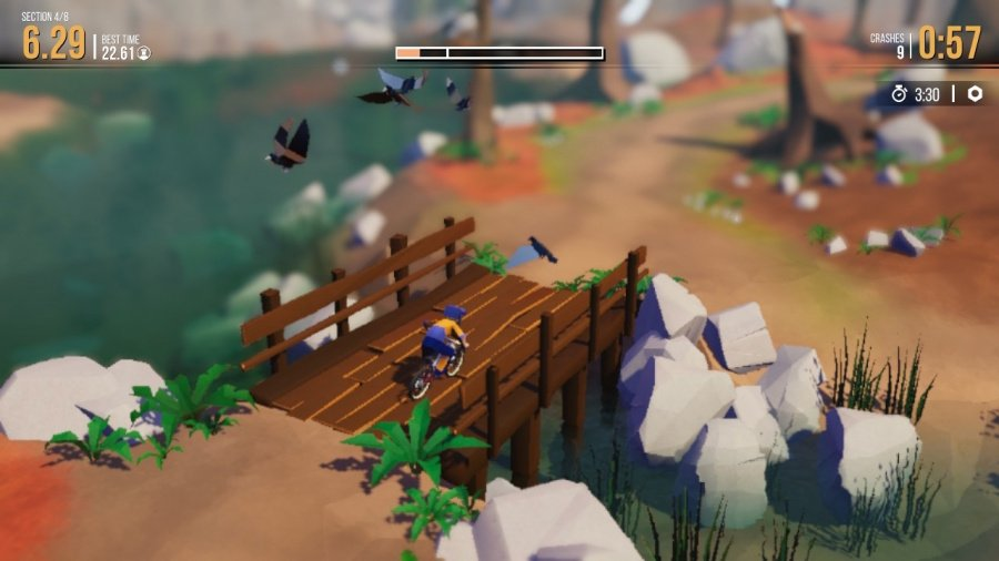 Lonely Mountains: Downhill Review - Screenshot 1 of 4