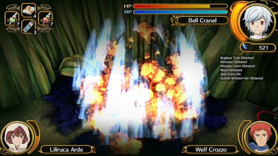 Is It Wrong to Try to Pick Up Girls in a Dungeon? Familia Myth Infinite Combate Review - Screenshot 1 of 5