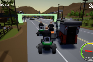 Lawnmower Game: Racing Screenshot