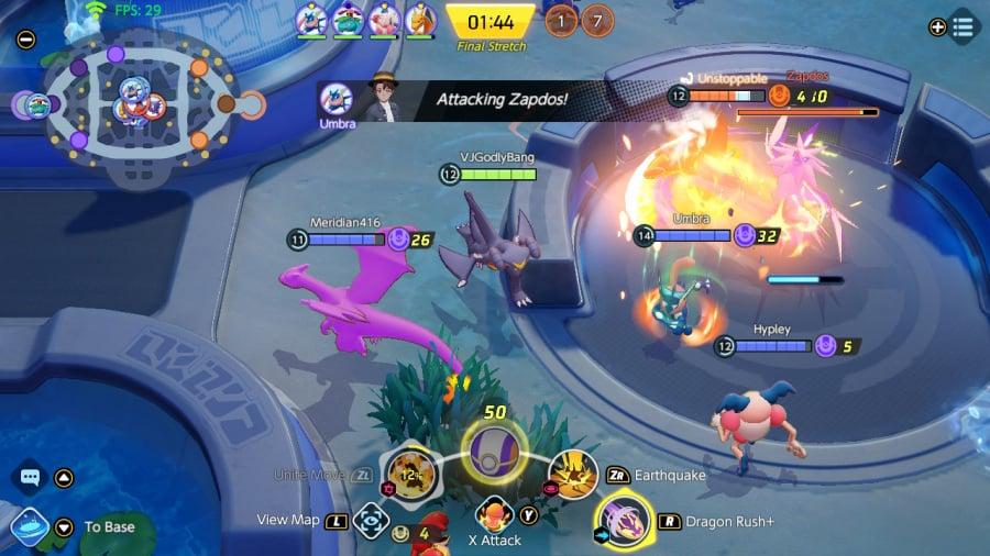 مراجعة Pokémon Unite - لقطة شاشة 2 من 5