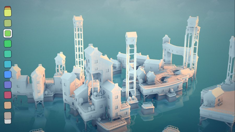 Townscaper Review - Screenshot 1 of 6