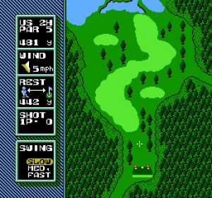 NES Open Tournament Golf Review - Screenshot 1 of 4