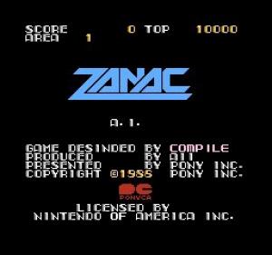 Zanac Review - Screenshot 1 of 2