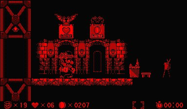 Virtual Boy Wario Land Screenshot