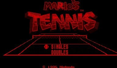 Mario's Tennis Screenshot