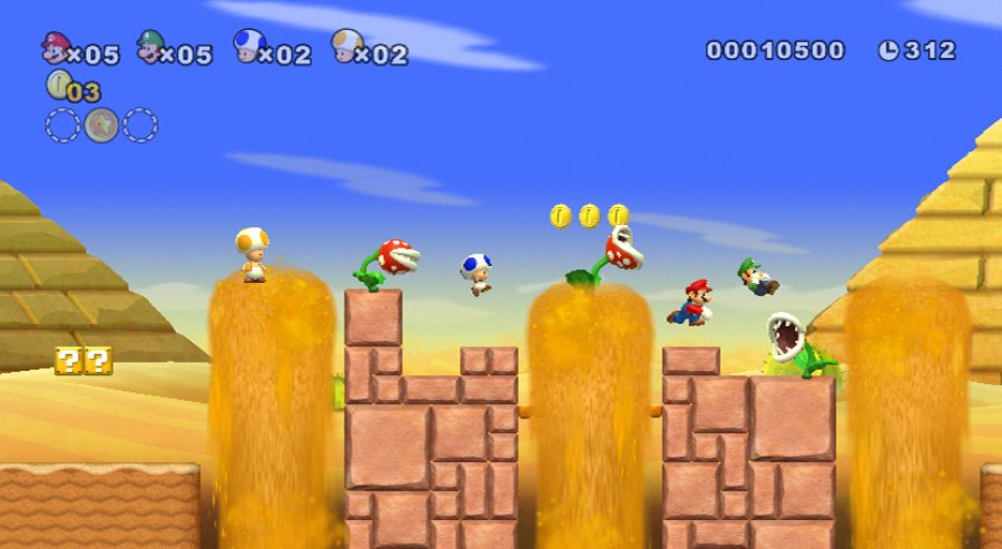 New Super Mario Bros. Wii Review - Screenshot 1 of 5