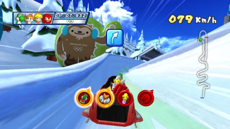 Mario & Sonic at the Olympic Winter Games Review - Screenshot 1 of 5