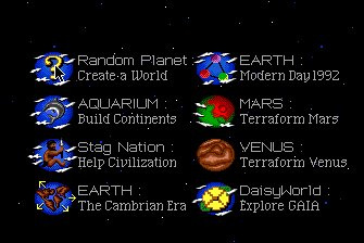 SimEarth: The Living Planet Screenshot