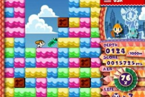 Mr. Driller Drill Land Screenshot