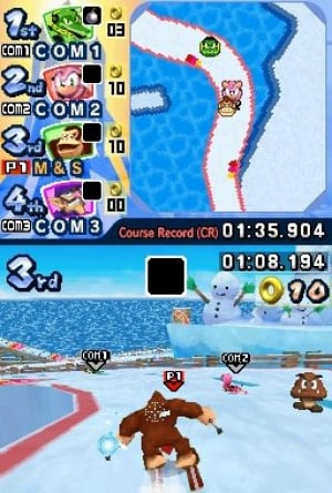 Mario & Sonic at the Olympic Winter Games Review - Screenshot 1 of 3