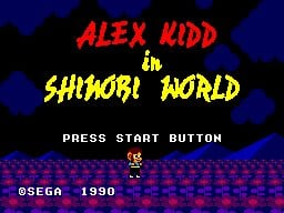 Alex Kidd in Shinobi World Screenshot
