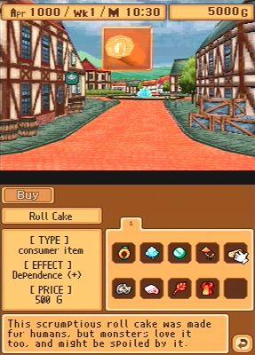 Monster Rancher DS Screenshot