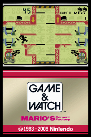 Game & Watch Mario's Cement Factory Review - Screenshot 1 of 2