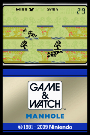 Game & Watch Manhole Review - Screenshot 1 of 2