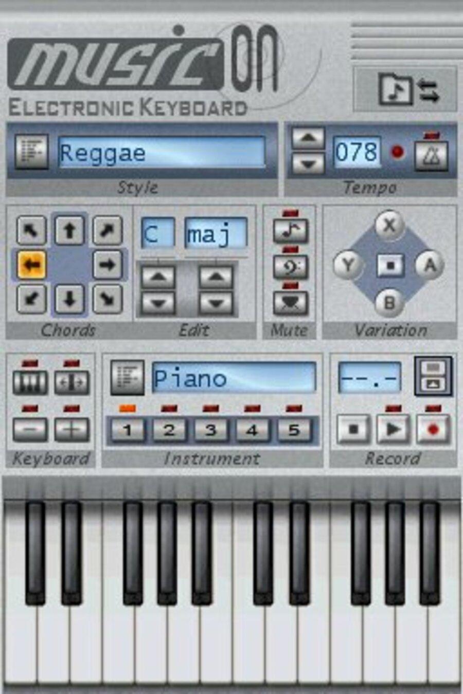 Music On: Electronic Keyboard Screenshot