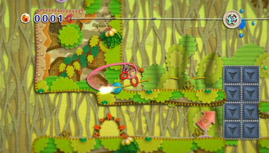Kirby's Epic Yarn Review - Screenshot 1 of 5