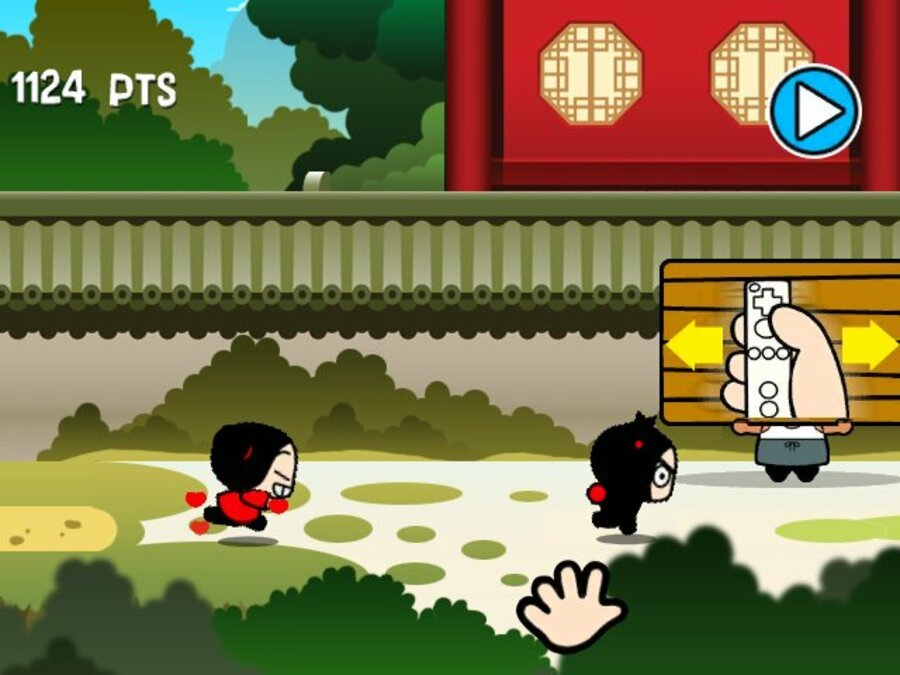 Pucca's Kisses Game Screenshot