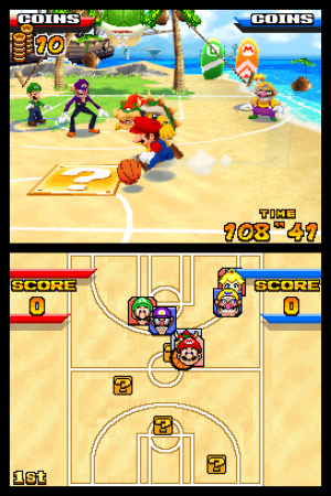 Mario Hoops 3 on 3 Review - Screenshot 2 of 4