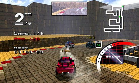 3D Pixel Racing Screenshot