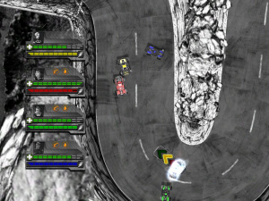 Monochrome Racing Review - Screenshot 2 of 3