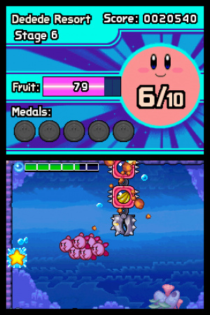 Kirby Mass Attack Review - Screenshot 1 of 3