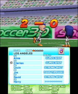 Arc Style: Soccer!! 3D Review - Screenshot 2 of 4