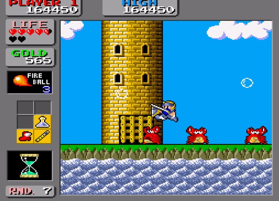 Wonder Boy in Monster Land Screenshot