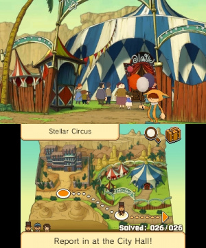 Professor Layton and the Miracle Mask Review - Screenshot 1 of 5