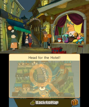 Professor Layton and the Miracle Mask Review - Screenshot 3 of 5