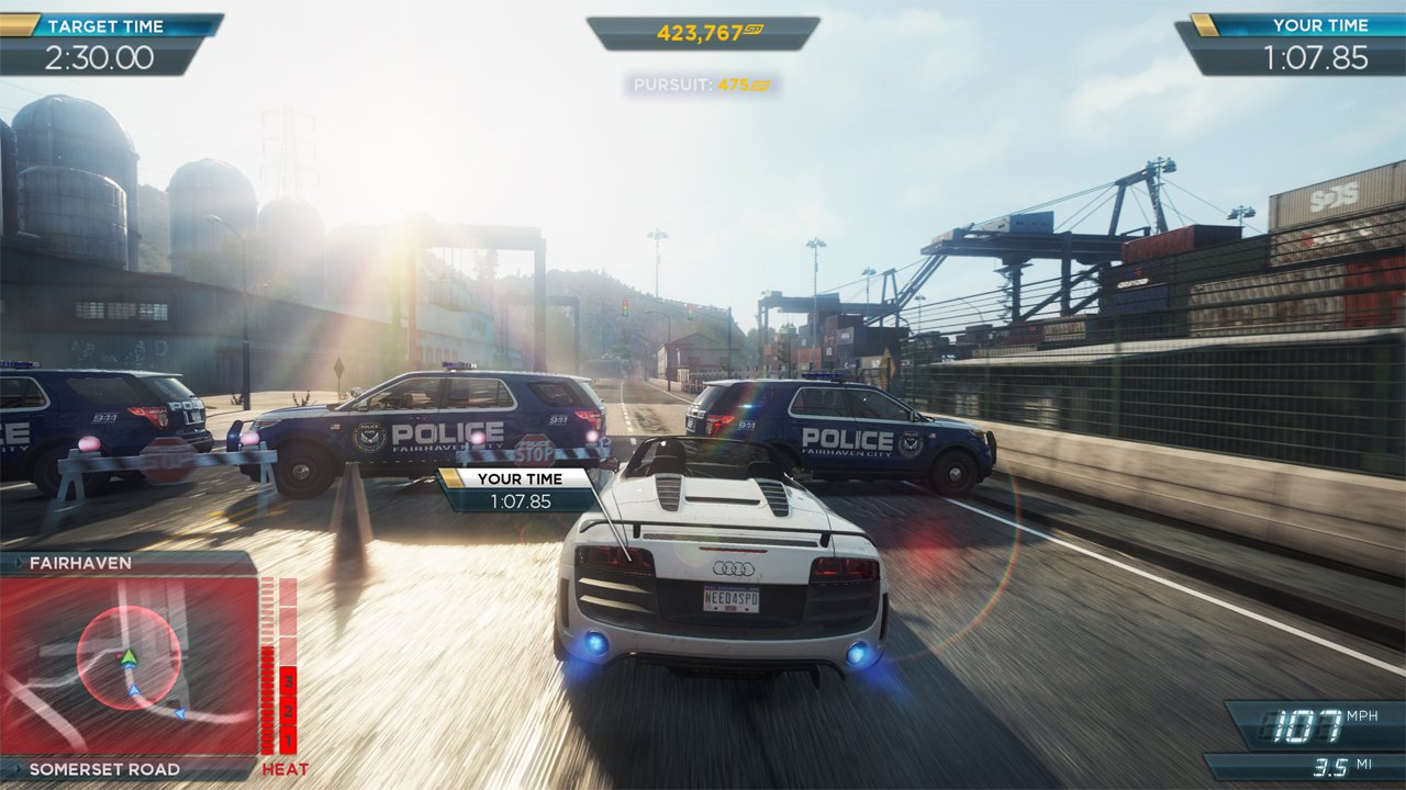 need for speed most wanted u wii u screenshots. Black Bedroom Furniture Sets. Home Design Ideas