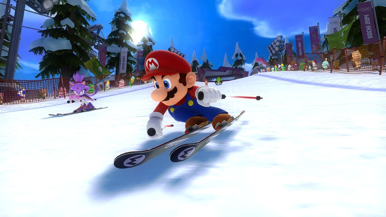 mario sonic at the sochi 2014 olympic winter games. Black Bedroom Furniture Sets. Home Design Ideas