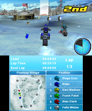 Snow Moto Racing 3D Review - Screenshot 2 of 3