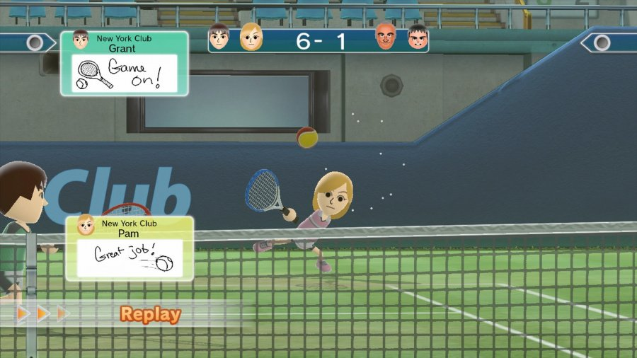 Wii Sports Club: Tennis Review - Screenshot 1 of 5
