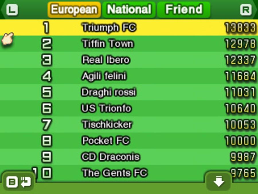Nintendo Pocket Football Club Screenshot