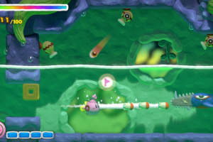 Kirby and the Rainbow Curse Screenshot