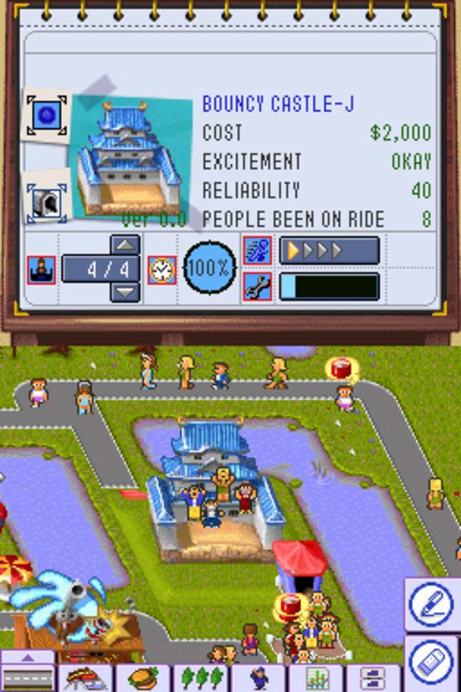 Theme Park DS Screenshot