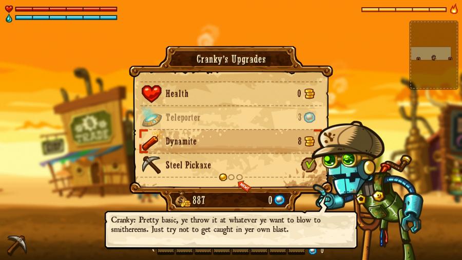 SteamWorld Dig Review - Screenshot 1 of 3