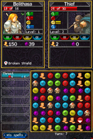 Puzzle Quest Review - Screenshot 1 of 2
