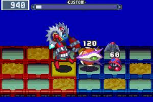 Mega Man Battle Network 3 Blue & White Screenshot