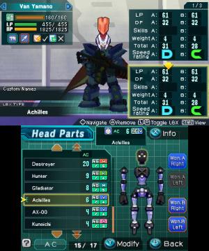129847 en 3 D S LBX Achilles Head Parts