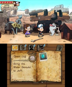 Gravity Falls: Legend of the Gnome Gemulets Review - Screenshot 1 of 5