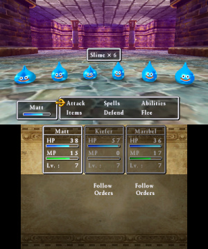 143262 3 DS Dragon Quest7 S Battle Slimes En